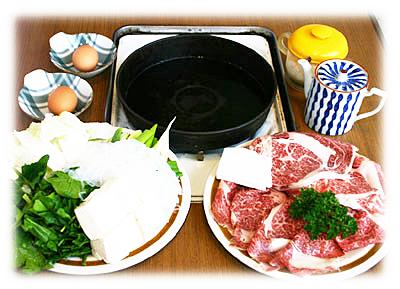 近江牛肉専門店 近江かね安のすき焼き